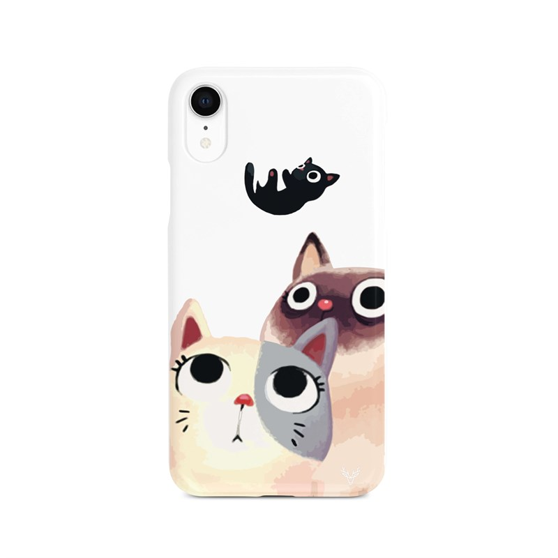İphone Xr Family Cat Desen Kılıf