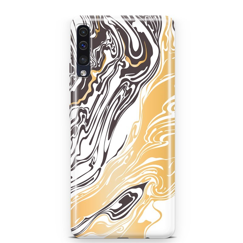 Samsung A50 Brown Gold Marble Kılıf