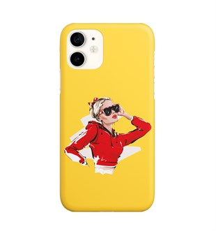 İphone 11 Red Fashion Girl Design Case